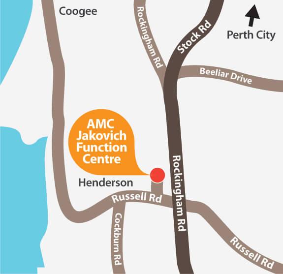 AMC Jakovich Centre location map