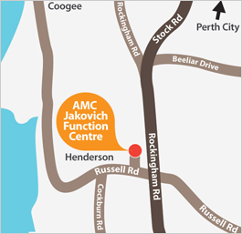 AMC Jakovich Centre Map